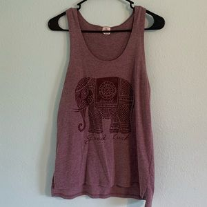 O'Neill good luck elephant maroon tank size small